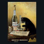 "Retro french poster &quot;absinthe bourgeois&quot;<br><div class=""desc"">Famous poster black cat drinking absinthe has been around the world and remains one of the most beautiful and representative posters of 1900. Founded by brothers Mourgue for Bourgeois famous distillery in Pontarlier, it uses the same codes as the famous painting by Charles Maire for french Absinthe Pernod Fils, namely:...</div>"
