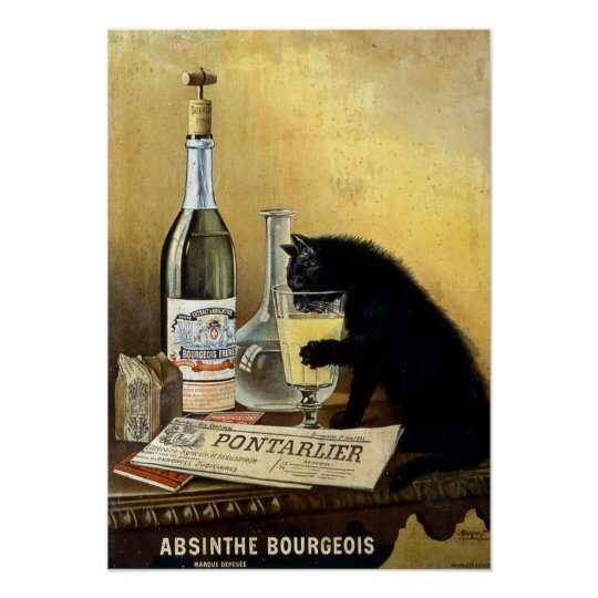 "Retro french poster ""absinthe bourgeois"" 