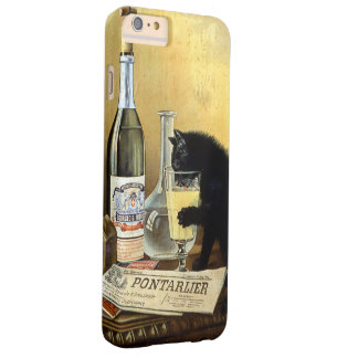 "Retro french poster ""absinthe bourgeois"" barely there iPhone 6 plus case"