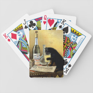"""Retro french poster """"absinthe bourgeois"""" bicycle playing cards"""