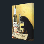 "Retro french poster &quot;absinthe bourgeois&quot; canvas print<br><div class=""desc"">Famous poster black cat drinking absinthe has been around the world and remains one of the most beautiful and representative posters of 1900. Founded by brothers Mourgue for Bourgeois famous distillery in Pontarlier, it uses the same codes as the famous painting by Charles Maire for french Absinthe Pernod Fils, namely:...</div>"