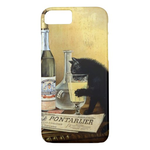 "Retro french poster ""absinthe bourgeois"" iPhone 8/7 case"