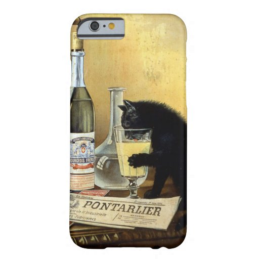 """Retro french poster """"absinthe bourgeois"""" barely there iPhone 6 case"""