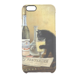 """Retro french poster """"absinthe bourgeois"""" clear iPhone 6/6S case"""