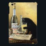 "Retro french poster &quot;absinthe bourgeois&quot; cover for the iPad mini<br><div class=""desc"">Famous poster black cat drinking absinthe has been around the world and remains one of the most beautiful and representative posters of 1900. Founded by brothers Mourgue for Bourgeois famous distillery in Pontarlier, it uses the same codes as the famous painting by Charles Maire for french Absinthe Pernod Fils, namely:...</div>"