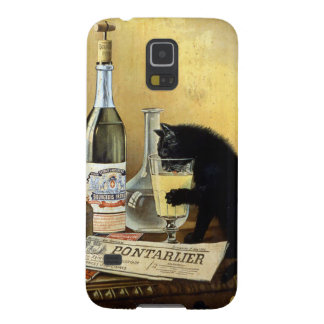 """Retro french poster """"absinthe bourgeois"""" galaxy s5 cover"""