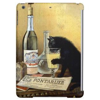 Retro french poster absinthe bourgeois cover for iPad air