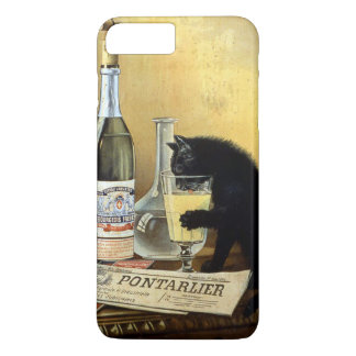 "Retro french poster ""absinthe bourgeois"" iPhone 7 plus case"