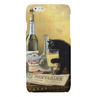 "Retro french poster ""absinthe bourgeois"" glossy iPhone 6 case"