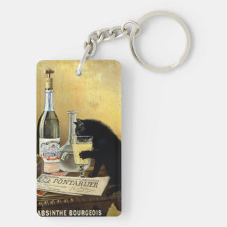 "Retro french poster ""absinthe bourgeois"" keychain"