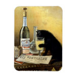 """Retro french poster """"absinthe bourgeois"""" rectangular photo magnet"""