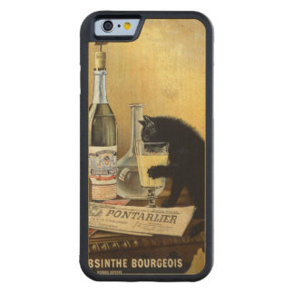 "Retro french poster ""absinthe bourgeois"" carved® maple iPhone 6 bumper"