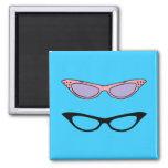 Retro Fridge Magnet ~ 50s Cats'-Eye Glasses