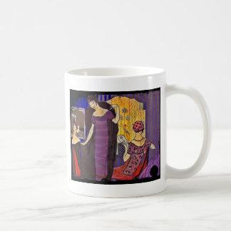 Retro Friends in Powder Room Coffee Mug