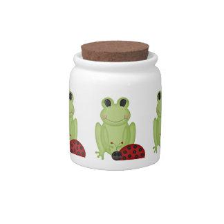 Retro Frog and Ladybug Candy Dishes