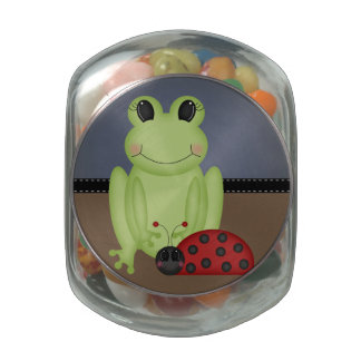 Retro Frog and Ladybug Jelly Belly Candy Jars