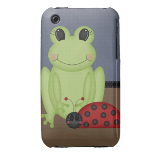 Retro Frog and Ladybug iPhone 3 Case