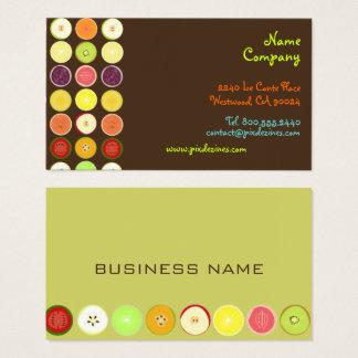 Retro fruits design profile cards