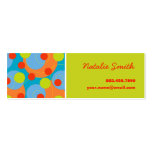 Retro Fruity Dots Funky Groovy Color Profile Card Business Card Templates