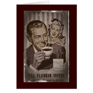 Retro Full Flavored Coffee Greeting Cards