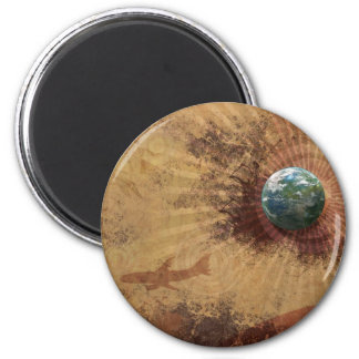 RETRO FULL GLOBE MAGNET