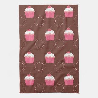 Retro Fun Cupcake Pattern Towels
