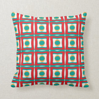 Retro Fun Patterns Throw Pillow