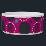 """Retro Fun Pink Skull Pattern Bowl<br><div class=""""desc"""">This is an adorable retro fun skull pattern that makes the perfect gift.</div>"""