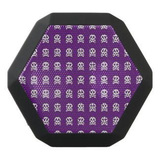 Retro Fun Purple Skull Pattern Black Bluetooth Speaker