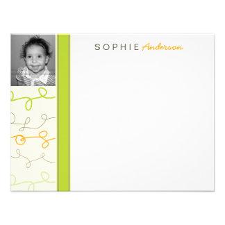 Retro Fun Scribbles Kids Photo Thank You Card Invitation
