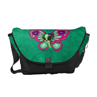 Retro Fun Zombie Butterfly Courier Bag