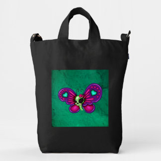 Retro Fun Zombie Butterfly Duck Bag