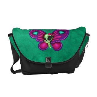 Retro Fun Zombie Butterfly Messenger Bag