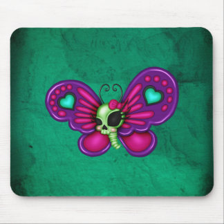 Retro Fun Zombie Butterfly Mouse Pad
