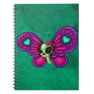 Retro Fun Zombie Butterfly Notebook