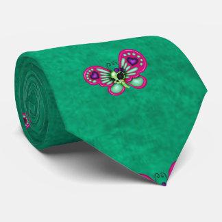 Retro Fun Zombie Butterfly Tie
