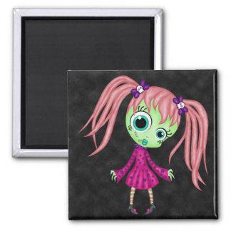 Retro Fun Zombie Girl Refrigerator Magnet