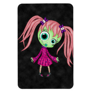 Retro Fun Zombie Girl Rectangular Magnet