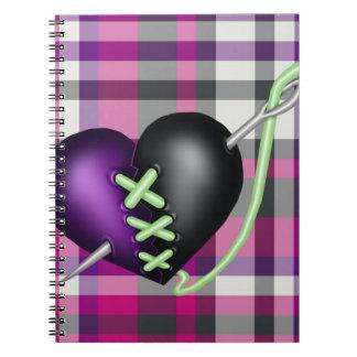 Retro Fun Zombie Heart Notebook
