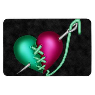 Retro Fun Zombie Heart Rectangular Photo Magnet