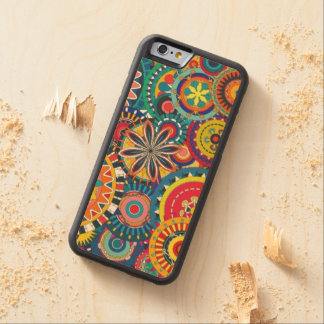 Retro Funk Carved Maple iPhone 6 Bumper Case