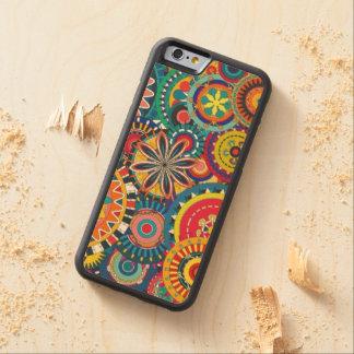 Retro Funk Carved Maple iPhone 6 Bumper Case