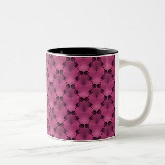 Retro Funk Circles Mug, Burgundy Two-Tone Coffee Mug