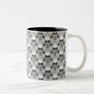 Retro Funk Circles Mug, Silver Two-Tone Coffee Mug