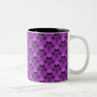 Retro Funk Circles Mug, Vibrant Purple Two-Tone Coffee Mug