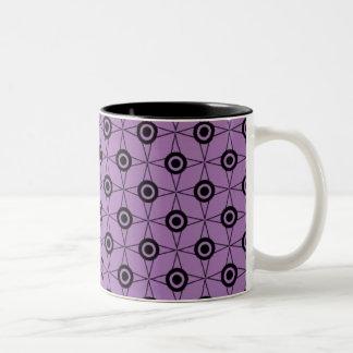 Retro Funk Geometric Mug, Lavender Two-Tone Coffee Mug