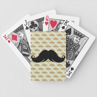 Retro Funky Black Handlebar Mustache Moustache Card Decks