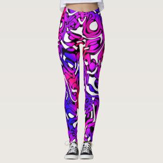 Retro Funky Bright Colours Pop Art Leggings