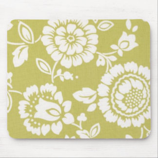 Retro Funky Floral Mousepad