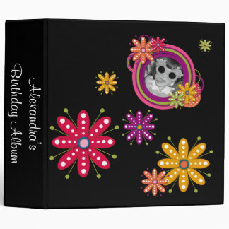Retro Funky Flower Photo Album Binder